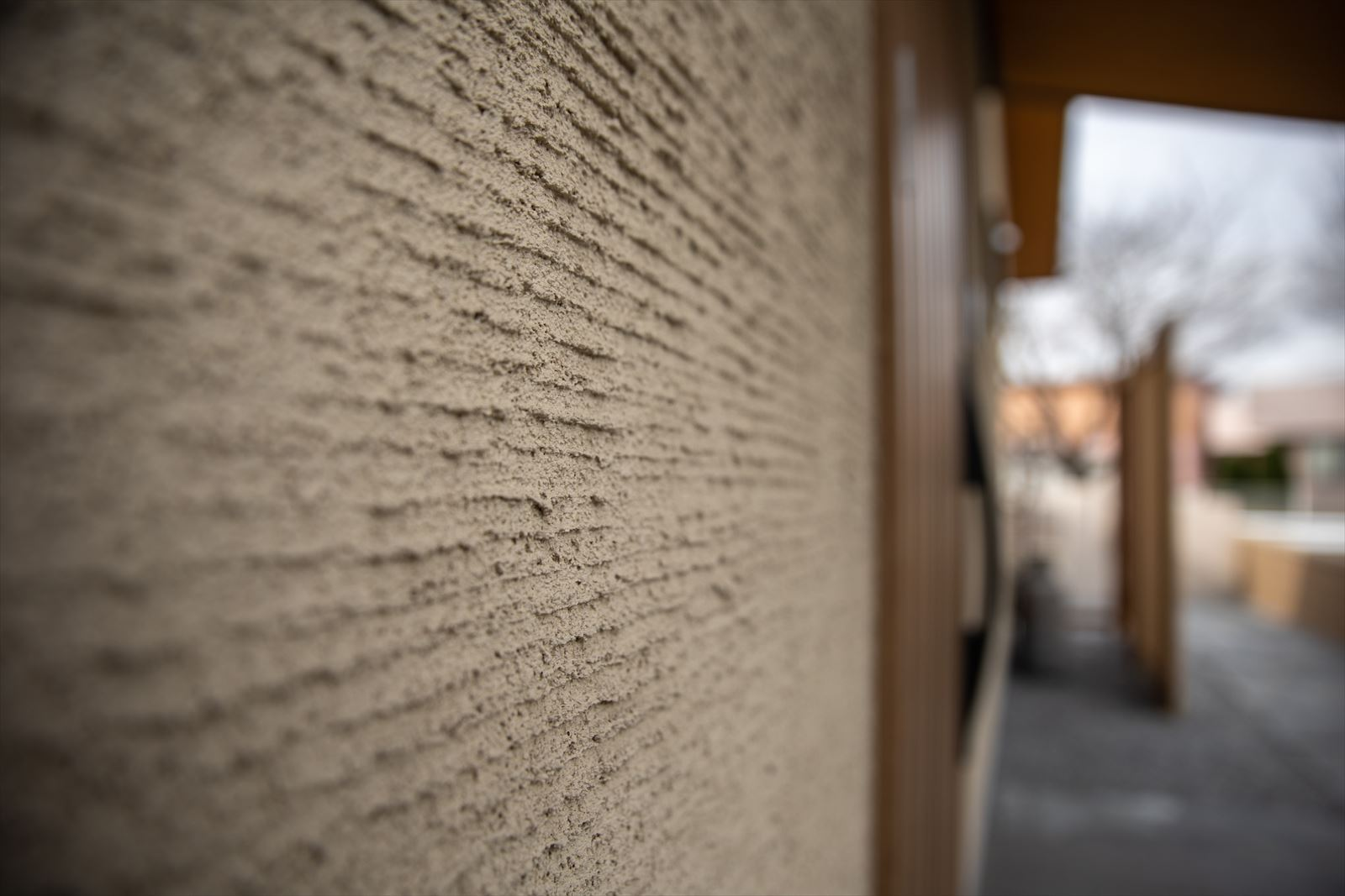 pattern plaster or mortar-covered wall